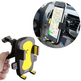 Wholesale Iphone Gps Cradle - In Car Phone GPS Holder Air Vent Clip Cradle Universal 360° Mount iPhone Samsung HTC LG