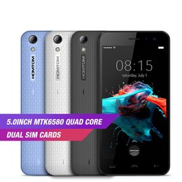 Wholesale Ram Ghz - HOMTOM HT16 3G WCDMA MT6580 Quad Core Android 6.0 5.0Inch 1GB RAM 8GB ROM 1280x720 5.0MP 13.GHz Mobile Phone