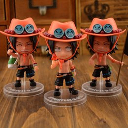 one piece figure dolls Promo Codes - 3pcs set Q Style one piece ace figure11cm pvc Action Figures Toy dolls Classic Toys Collection Model Doll Gift For Christmas free shipping