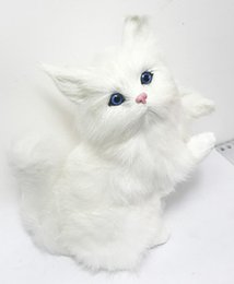Wholesale Best Price Plastic Models - Free shipping artificial lifelike lucky cat model figurine for Christmas home room decoration giftware best price and high quality