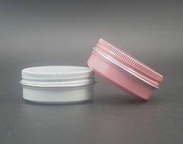 Wholesale Candle Tins - Wholesale- Free shipping 30ml aluminum cosmetic jars white color, 30g aluminum tins for candle, cream, mask, bath salt etc