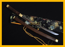 Wholesale Handmade Japanese Swords - COLLECTION SWORD for decorate Full Tang Authentic Handmade Hand Forged T10 1095 Steel Japanese Samurai Katana Warrior Wakizashi Sword #182