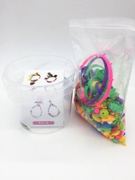 Wholesale Kids Beads For Bracelets - CCX DIY pop beads Intelligence toys Assemble bracelet necklace ring Children creative toy gift Creative Play GAME For Ages 4 - 10 Years