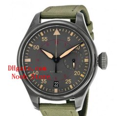 Wholesale Factory Pilots - Noob Factory Supplier Luxury AAA Brand Wristwatches IW501902 Automatic Mechanical Mens Men's Watch Watches 47mm top brand pilot wristwatches