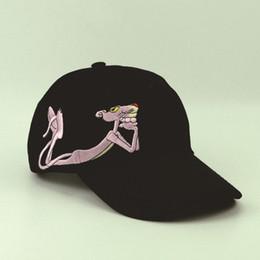 Wholesale Retro Sports Hats - Wholesale Pink Panther Baseball Cap Snapback Retro Classic Hat For Men Women Hat Sport Hip Hop Cap Leisure Headwear Headdress Casquette