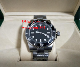 Wholesale Mens Watc - men Luxury High Quality Watc Asia Movement Black 40mm Ceramic Beze No DATE 114060 Blue Luminescent Mechanical Automatic Mens Watch Watches