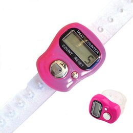 Wholesale Knitting Stitch Counter - Wholesale- 2pcs   lot Mini Finger LCD Electronic Digital Tally Counter Multicolor Hand Held Golf Digit Stitch Marker Knitting Row Tally