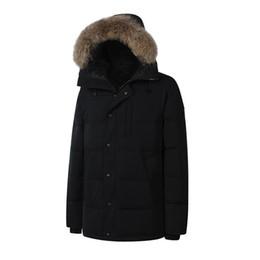 Wholesale Orange Coat Fur Collar - 2018 New Men's Fashion Down Jacket CARSON PARKA Army Green Winter Warm Thick Down Jacket Coats Fur Collar Jackets Parkas Plus size Outlet