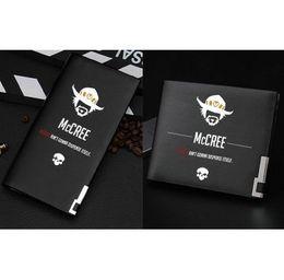 Wholesale Leather Cowboy Bags - Jesse Mccree wallet Cool cowboy purse Game short long cash note case Money notecase Leather burse bag Card holders