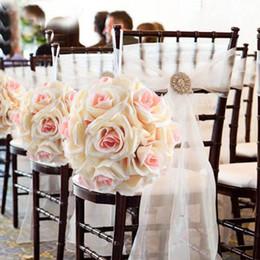 Toptan-Yapay Ipek Çiçek Gül Toplar Düğün Centerpiece Pomander Buketi Düğün Parti Dekorasyon Dekoratif Çiçekler için nereden