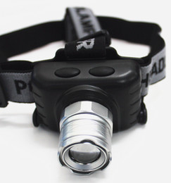 Wholesale Diving Spot Lights - 1W 3-Mode CREE Q5 1000Lumens LED Zoomable Headlamp Waterproof Headlight Spot Light for Diving Camping Hunting Underground working.