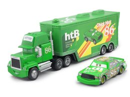Wholesale Cars Toys 86 Truck - Pixar Cars CHICK HICK #86 & MACK Superliner Truck Diecast Metal Kids Boy Toy