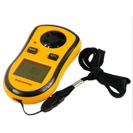 velocidades de fluxo Desconto HandHeld Anemômetro Digital Vento Velocidade / Vento Esporte Beaufort Scale Anemômetro GM8908 0.3 a 30 metro Frete grátis