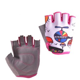 Wholesale Boys Road Bikes - Children Road Bike Gloves Breathable Riding Half Finger Mountain Bicycle MTB Cycling Gloves for Kids Boys Girls Sports Gloves