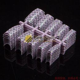 Wholesale French Tip Glitter - NEW ARRIVAL 100PCS LOT Glitter nail tip Pink Glitter Designed False French Nail Art Tips HOT
