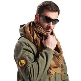 Wholesale Head Scarf Camping - Men's women's outdoor camping adventure tactical Arab square scarves plaid print tassel disguised magic scarf masks windbreak head scarves