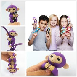 Wholesale Electronic Party - 2017 Fingerlings Monkey Pre-sale Fingerlings Interactive Monkey Kids Finger Toys Electronic Smart Touch Fingers Toys ABS Monkey Toys Gift