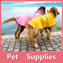 Wholesale Wholesale Jackets Rainwear - Pets Dog Puppy Cat Rain Coat Dog Clothes Waterproof Jacket Rainwear Hooded Reflective With 7 Colors 160909