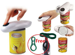 Wholesale One Touch Automatic Jar Opener - Automatic Tin Can Opener One Touch Electronic Electric jar opener Hands Free Operation Kitchenware with Jar Bottle Wrench with retail box