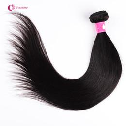 Wholesale Cheap Straight Remy Weave - 1 2pcs lot Brazilian Virgin Human Hair Weaves Soft Unprocessed Peruvian Straight Hair Weft Cheap Remy Forawme Hair #1B 8-30inch