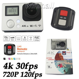 Wholesale Remote Control Mini Car Camera - 2.4G Remote Control 2 inch Screen 4K Action Camera Waterproof Mini Car DVR 16MP 720P 120fps M8 V3