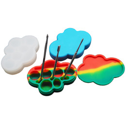 Wholesale Shaped Containers - Large Cloud Shape Silicone Container Jar Honey Dab Box 85ML