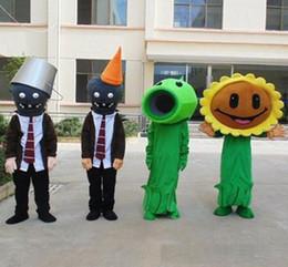 2019 trajes de mascotes de planta 2018 venda quente dos desenhos animados da mascote trajes da planta da mascote do traje adereços desempenho roupas atirador brinquedo traje trajes de mascotes de planta barato