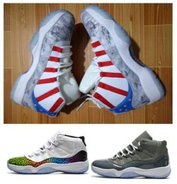 Wholesale Cracks Shoes - Air Retro 11 Captain to the moon Colorful crack explosion Basketball Shoes sport shoes size eur 41-47 free shipping