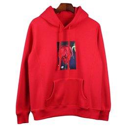 Wholesale Black Rose Hoods - Red Black Rose Print Hoodies Kiko Mizuhara Women Fleece Sweatshirt Long Sleeve Oversized Fleece Hood Jacket Fashion Streetwear LXG0833
