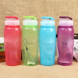 Wholesale Tea Shaker - Wholesale- 4 Colors Portable 650ml Water Bottle Sports Cups My Plastic Space Shaker Water Bottles BPA Free