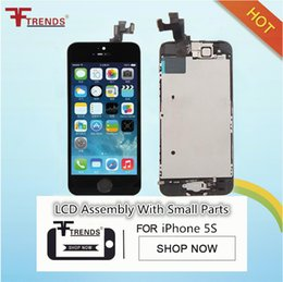 Wholesale Front Complete - For Apple iPhone 5S LCD Screen Display Full Complete Assembly with Touch Digitizer with Home Button Front Camera Speaker