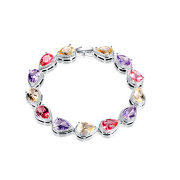Wholesale Colorful Skull Bracelets - Mix Style 925 Silver Plated Charm Bracelet Bangle Wristbands Lady's Fashion Jewelry with Colorful Glass Skull Daisy Flower Shape
