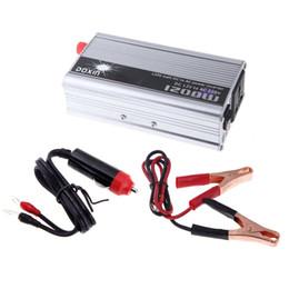 Wholesale Dc Ac Power Inverter Transformer - 1200W WATT DC 12V to AC 220V Portable Car Power Inverter Adapater Charger Converter Transformer order<$18no track