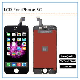 Wholesale Order Touch Screen Panel - Mix order Grade AAA Quality LCD Display For iPhone 5C LCD Touch Screen Digitizer Assembly Wholesale Free shipping