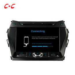 Wholesale Hyundai Ix35 Dvd Player Gps - Quad Core HD 1024*600 Android 5.1.1 Car DVD Play for Hyundai IX45 with GPS Navigation Radio Wifi Mirror link DVR