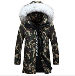 Wholesale United Hat - Wholesale- winter jacket men Winter Europe and the United States foreign trade men 's down jacket youth thick fur collar long men' s down j