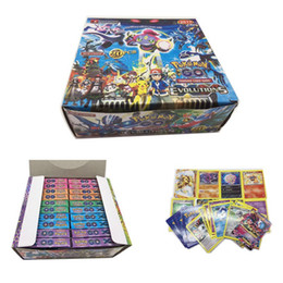 Wholesale Game Sets - New Fashion Poke Trading Cards Games Steam Seige English Edition Anime Pocket Monsters Cards Toys 660pcs lot F830