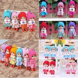 Wholesale Doll Phone Charms - Wholesale -New Grid clown confused doll mobile phone's accessories creative gift phone pendant wholesale mobile phone accessories 2148