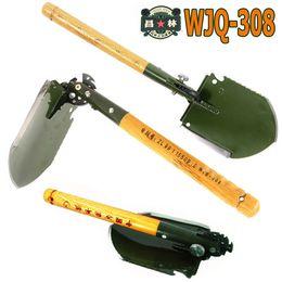 Wholesale Camping Snow Shovel - 2016 chinese military shovel folding portable shovel WJQ-308 multifunction camping fishing hunting hiking spade outdoor tools car rescue