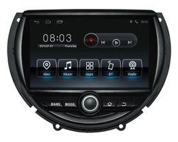 Deutschland Android9.0 Quad-Core 1024 * 600 HD Bildschirm Auto DVD GPS Navigation für Mini Cooper 2014-2016 mit 3G / Wifi DVR OBD 1080P Versorgung