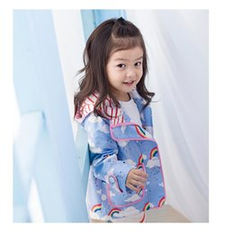 Wholesale Kids Designer Wholesale Clothes - New Designer Baby Jacket Rainbow Children Hooded Jackets Girls Winter Clothing Kid Fashion Outfit Boutique Clothes