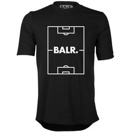 campo de fútbol Rebajas Campo de fútbol con borde redondo Código europeo Camiseta Balr Hombre manga corta cuello redondo flojo ordenado verano nueva marea ropa para hombres