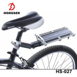 Wholesale Bike Carry - HS-027 Surface plate Bike Carrier Rack Alluminum Bike Cycle Rear Carrier Mountain bike parts wholesale rear carrier luggage bike carry