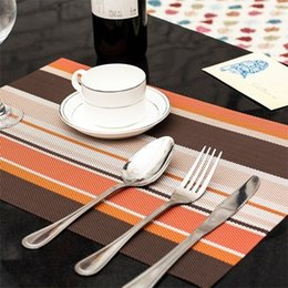Wholesale Meal Pad - Wholesale- 4PCS LOT 45*30cm PVC Placemat Meal Cup Pad Table decoration accessories Kitchen Dining bar Tableware Utensil Restaurant Catering