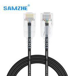 Wholesale Ps2 Dvi - SAMZHE Cat6A Ultrafine Ethernet Patch Cable - Slim RJ45 Computer,PS2,PS3,XBox Networking LAN Cords 0.5m 1m 1.5m 2m 3m 5m 8m 10m