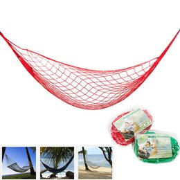 Wholesale Mesh Hammocks - High Quality Nylon Rope Mesh Hammock 5 Colors Portable Outdoor Garden Hammock Hang BED Travel Camping Swing Fauteuil Suspendu
