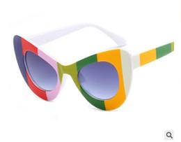 Wholesale Cats Batman - New color flower frame cat wall sunglasses fashion Batman retro 66121 sunglasses for male and female free shiping