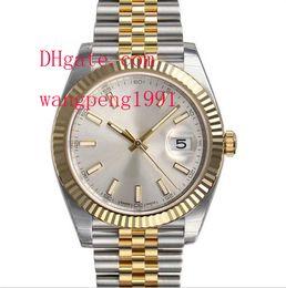 Wholesale Yellow Sapphire Bracelet - Top Quality Luxury AAA Brand Sapphire 41mm 126333 Mens Steel & Yellow Gold Jubilee Bracelet Silver Automatic Mechanical Mens Men's Watch Wat