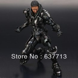 Wholesale General Zod - 1 pcs Square Enix Play Arts Superman The Man of Steel General Zod Action Figure retail 1206#06
