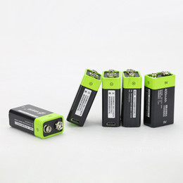 Wholesale 9v Battery Wholesale - New Rechargeable 9V Li-ion Batteries 400mAh Battery Micro USB Slot USB Charging Retail Package Free Shipping